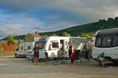 Riverside Campsite has hard standing  pitches available for caravans and motor homes